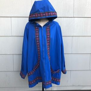 Jackets & Blazers - Vintage blue and embroidered southwest bohemian
